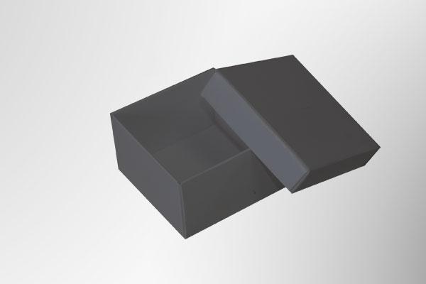 Caja de cartón con tapa